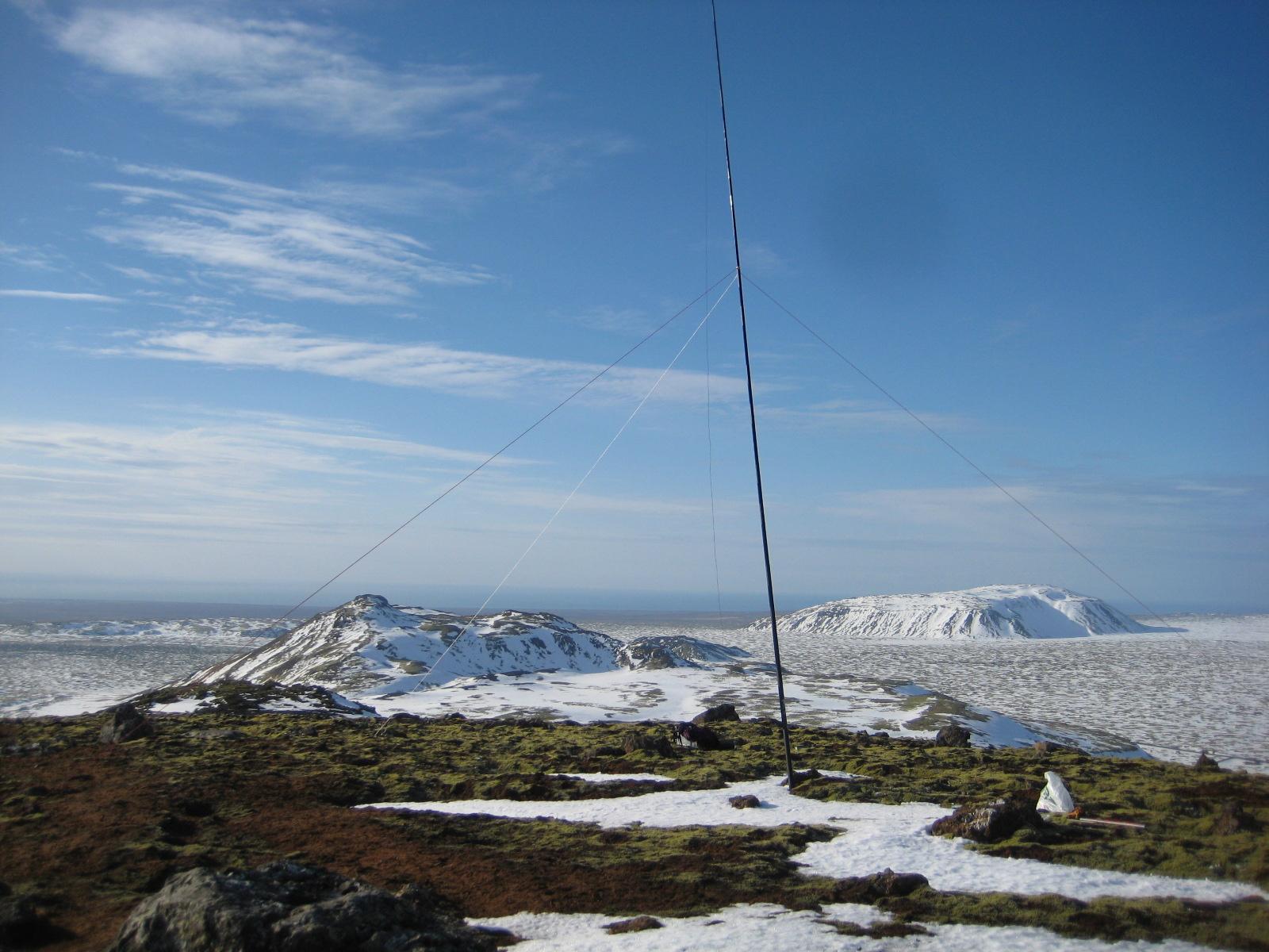 Stóri Meitill, TF/SV-027 virkjaður, Geitafell, TF/SV0-28 í baksýn.